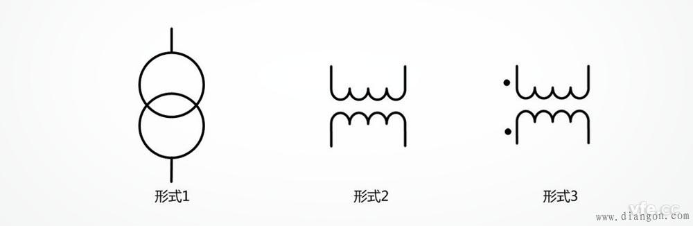 双绕组变压器符号