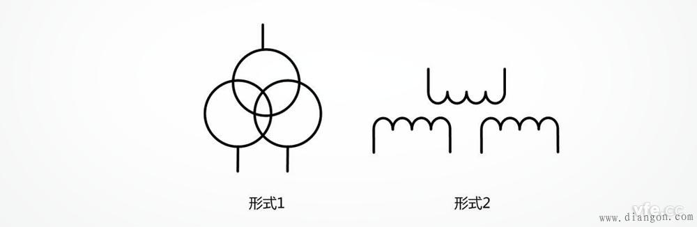 三绕组变压器符号