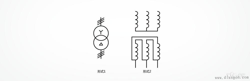 星形三角形连接的三相变压器