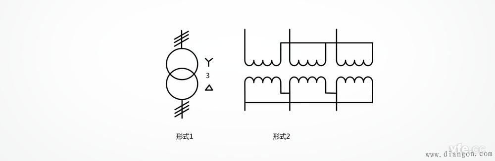 星形三角形连接的由单相变压器组成的三相变压器