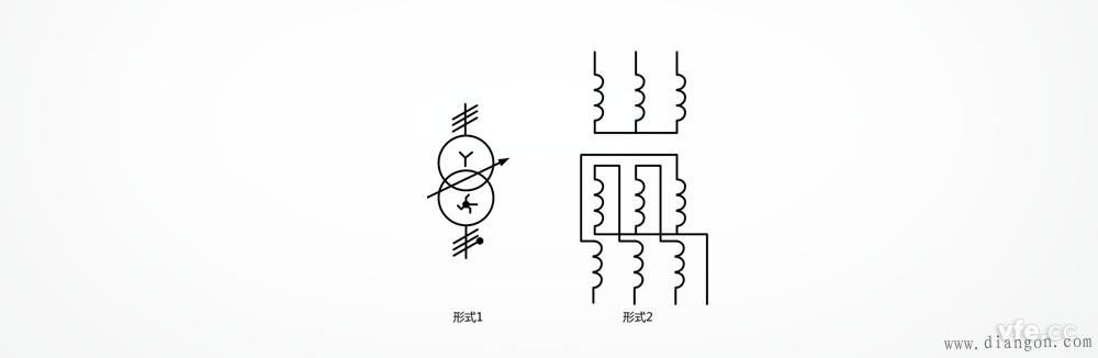星形曲折形中性点引出连接的三相变压器