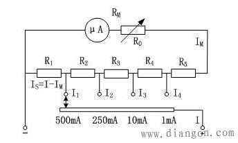 万用表使用技巧之直流电流电压测量测量电路的工作原理