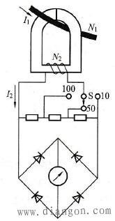 互感器式钳形电流表结构