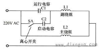 单相双电容电动机正确接线方法