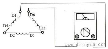 环流法判断三相电动机定子绕组头、尾端