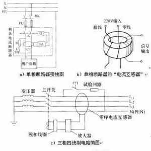 漏电断路器的结构原理