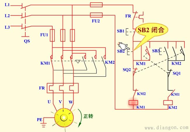 断火限位器工作原理_工作台自动往返控制电路图及工作原理 - 电动机_电工学习网