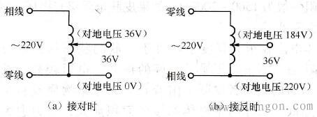 """用自耦变压器得到""""安全电压""""的危险"""