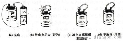 用充、放电法判断电容器的好坏