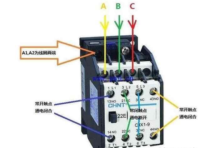 交流接触器常开和常闭触点图解