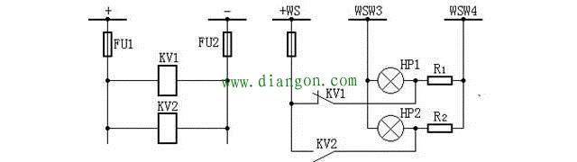 直流母线电压监视装置电路图