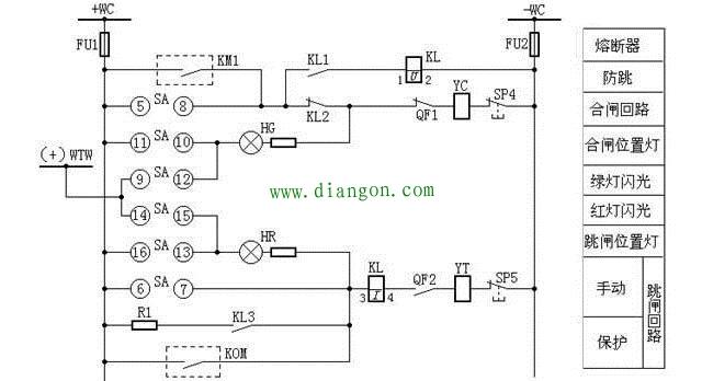 断路器控制、信号回路图