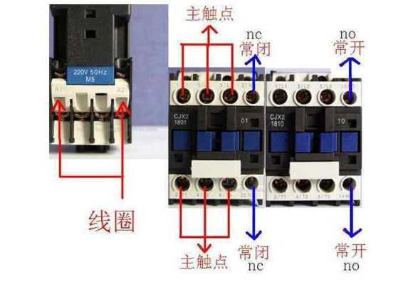 交流接触器触点的功能图解_交流接触器各触点介绍