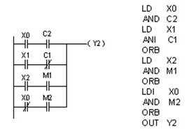 plc串联电路块并联指令ORB