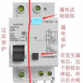 家用漏电保护器过流跳闸与漏电跳闸的检查方法