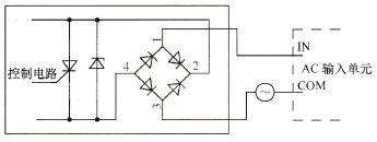 电桥输出设备与PLC交流输入单元连接