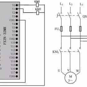 多定时器组合控制的PLC线路与梯形图