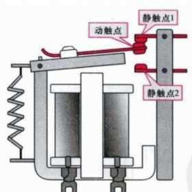 继电器转换触点的控制关系