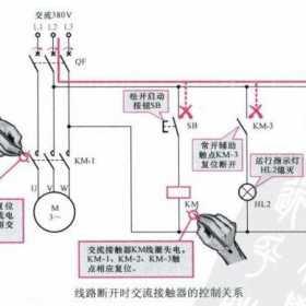 交流接触器作用原理及控制关系图解