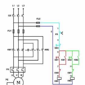 电动机正反转的电路图和工作原理