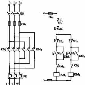 三相异步电动机正反转控制电路的原理图和动作原理