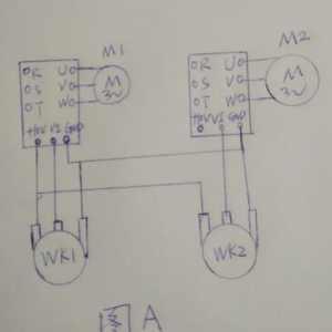 如何用两台变频器同步控制两台电动机