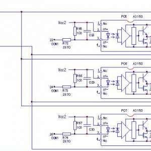 台安E310-0.75kW变频器电源/驱动板电路