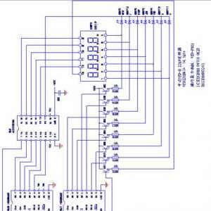 中达VFD-B型变频器操作显示面板电路