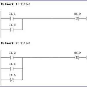plc置位和复位指令梯形图编程实例