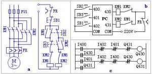 异步电机的双向控制电路编程实例