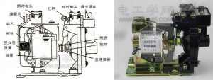 空气式时间继电器结构图