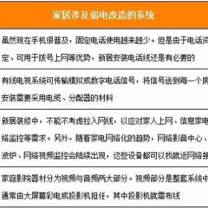 弱电施工材料介绍