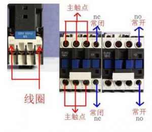 电工对交换接触器常开和常闭的精确懂得