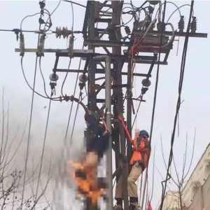 一瞬间:突然送电,电工触电身亡!