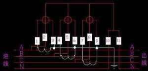 三相四线电表的两种接线方法