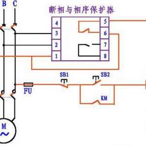 断相与相序保护继电器的接线方法图解