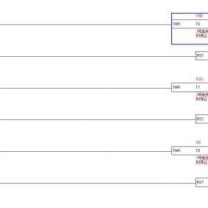 PLC一键启停顺序启动5个输出-逆停