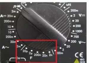 数字万用表电容档的测量使用方法与注意事项