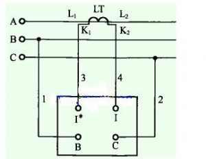 功率因数表实物接线图