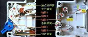 小型断路器机械结构灭弧系统及工作原理详解