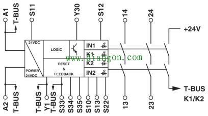 安全繼電器原理及接法