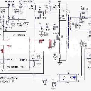 五张24v开关电源原理电路图及工作原理讲解