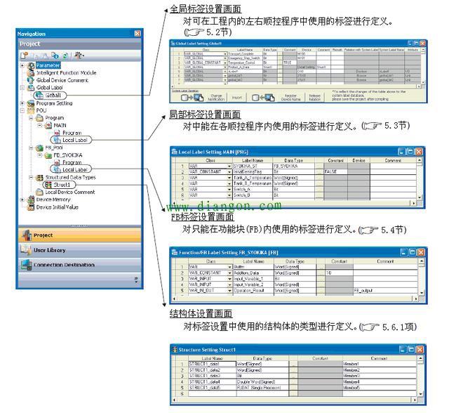 三菱PLC編程之標簽的設置