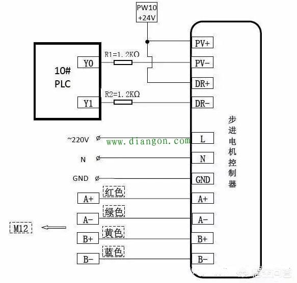 步进电机接线颜色线序定义_步进电机接线图图解