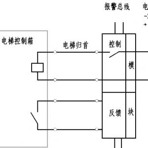 电梯迫降继电器和消防模块工作原理接线图