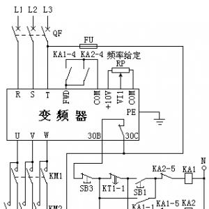 怎样使没有正反转功能的变频器驱动电动机正反转?