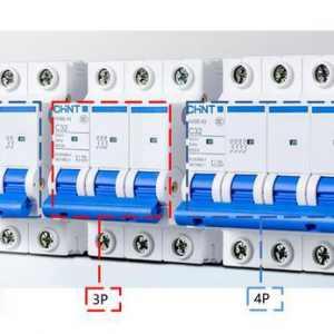 断路器1P2P3P4P是什么意思?有什么区别?1P+N和2P的区别