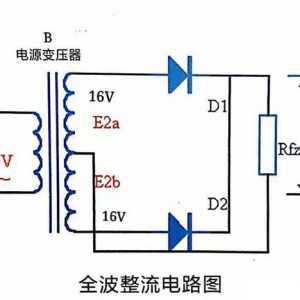 4个二极管整流和2个二极管整流出电压一样吗?