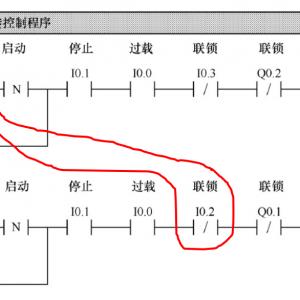 plc电机正反转控制电路图梯形图程序