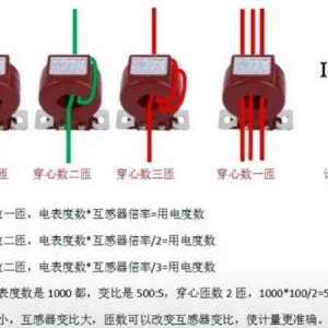 电表互感器匝数倍率怎么看?